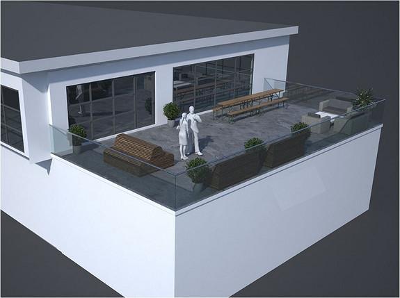 Illustrasjon terrasse