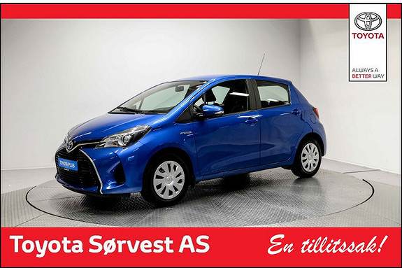 Toyota Yaris 1,5 Hybrid Active e-CVT aut Fin blå farget bil, Lav km!  2014, 29200 km, kr 169000,-