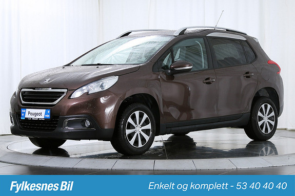 Peugeot 2008 1,4 HDI 68hk Active DAB+, Navi, Cruice, USB, Delskinn  2013, 54200 km, kr 159900,-
