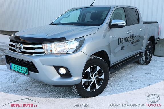 Toyota HiLux D-4D 150hk D-Cab 4WD SR aut // Demobil // 2,95% rente  2017, 12500 km, kr 419900,-