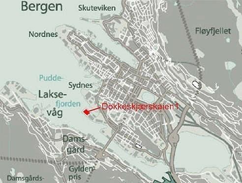 4 minutter å kjøre fra Danmarksplass