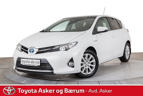 Toyota Auris 1,8 Hybrid E-CVT Executive SE KM. 1 EIER, ALT UTSTYR  2014, 15700 km, kr 229000,-