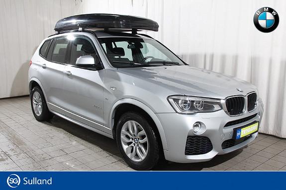 BMW X3 xDrive20dA190hk Msport-EDC-Navi-adCruise-adLED-el krok