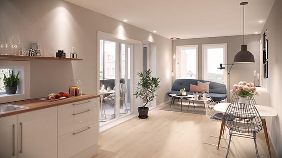 Byggestart vedtatt - Arkitekttegnede leiligheter med sentral og solrik beliggenhet i Nattlandsveien. Kun 3 min. gange til Haukeland sykehus.