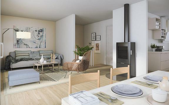 3 solgt av 4  moderne boliger i rekke- Skauen/Saltnes