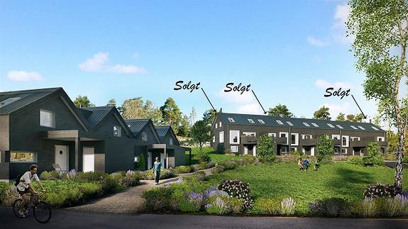 3 Solgt - av 10 moderne rekkehus . Visning på tomt lørdag 11.03. fra kl. 14.30 - Saltnes, Råde
