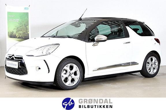 Citroën DS3 Cabrio e-HDi 90 EMG Style / Møt sommeren i cabriolet!  2013, 12748 km, kr 159000,-