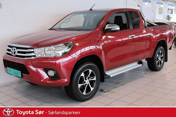 Toyota HiLux D-4D 150hk X-Cab 4WD SR 1T INNBYTTEGARANTI KR. 20.000,-  2016, 9000 km, kr 419000,-