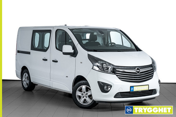 Opel Vivaro 1,6 BiTurbo 120hk Mester Premium L1H1 PARKERINGSVARMER-NAVI-KLEDNING-2X SKYVEDØR++