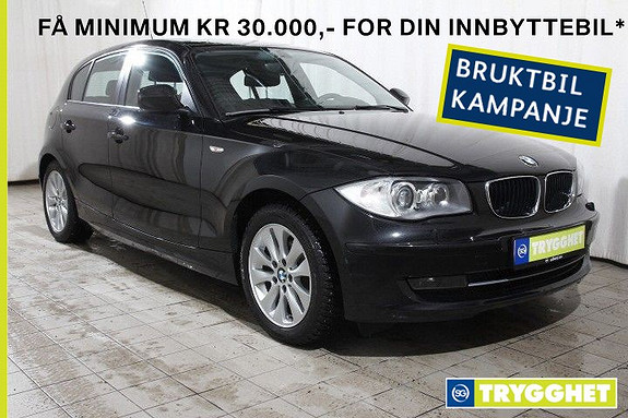 BMW 1-serie 118d aut 143hk-Navi-El.soltak-PDC-blåtann-USB-X-lav km
