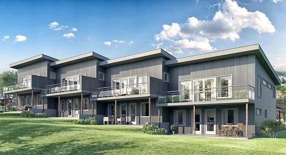 MØVIK - 4 nye rekkehus med moderne og innbydende standard. Fin beliggenhet i solrikt og barnevennlig område.
