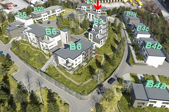Bjørge/Tinnatunet. Nydelig rekkehus med takterrasse - 3 Soverom - Svært gode solforhold - Nydelig utsikt- Garasje.