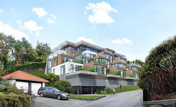10 solgt - Kun 3 leiligheter igjen! - Dyrhaugen 12-14 - 13 eksklusive leiligheter på Skjold