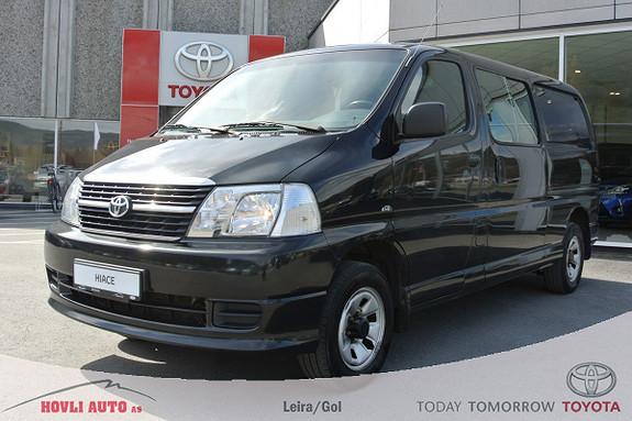 Toyota HiAce D-4D 5-d 117hk 4WD lang H.feste - A/C - 2,95% Rente  2011, 141422 km, kr 199900,-