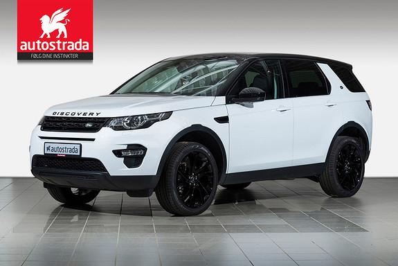 """Land Rover Discovery Sport TD4 HSE Black Pack/Pano/Webasto/H.feste/20""""/Navigasjon+  2016, 4900 km, kr 629000,-"""