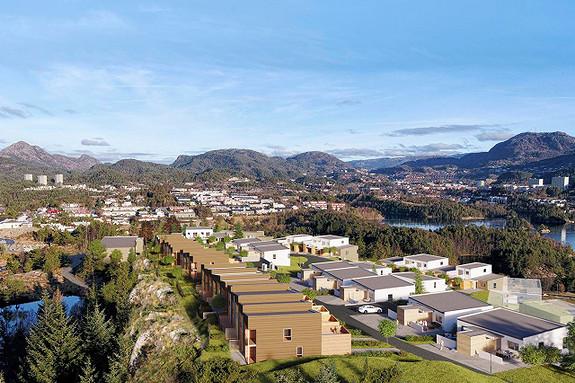 Tørr du vente? - Øverst på Knappentoppen - panoramautsikt - 7 av 11 attraktive rekkehus er allerede solgt - Perfekt for barnefamilier