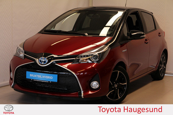Toyota Yaris 1,5 Hybrid Bi Tone + e-CVT aut Navi, kamera, tectylert  2017, 2610 km, kr 235000,-