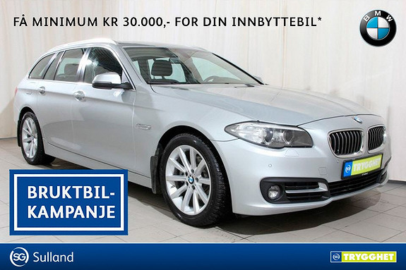 BMW 5-serie 520d xDrive Touring 163hk aut Navi proff, Norsksolgt,
