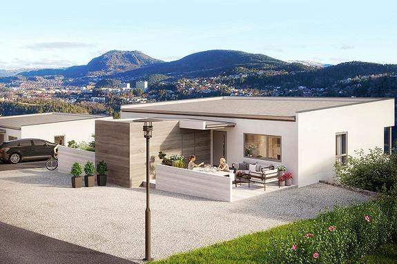 Byggetrinn 1 er utsolgt - nå selger vi 10 unike Funkisboliger -med fantastisk utsikt og svært gode solforhold.