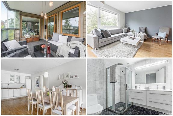 FYLLINGSDALEN - Flott 3-roms leilighet på 86 kvm. med 13 kvm. solrik altan, god planløsning og p-plass.
