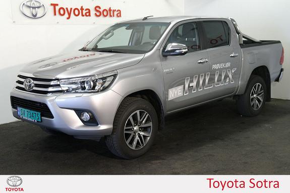 Toyota HiLux D-4D 150hk D-Cab 4WD SR+ aut TOPPMODELL LAV KM  2016, 4872 km, kr 435000,-