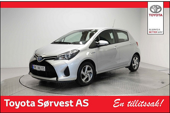 Toyota Yaris 1,5 Hybrid Active Lav km! DAB+  2015, 31098 km, kr 179000,-
