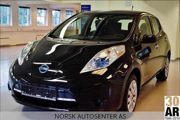Nissan Leaf Genr.2, Hurtiglading, Varmepakke, 24KW, 109HK  2014, 35000 km, kr 137000,-