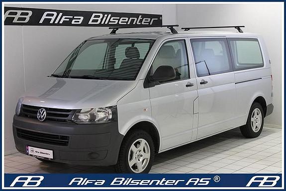 Volkswagen Transporter 2,0TDI 4 motion 8 Seter personbil Lang utgave Delskinn  2010, 110000 km, kr 328072,-