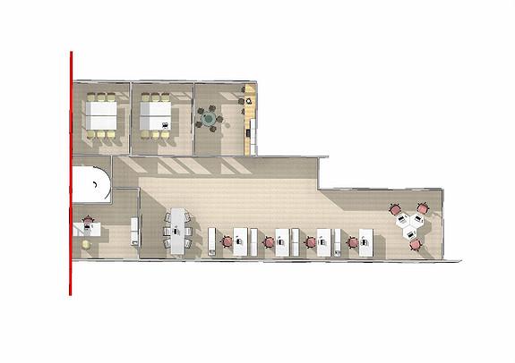 Forslag til innredning 2 etg. 188 m2.