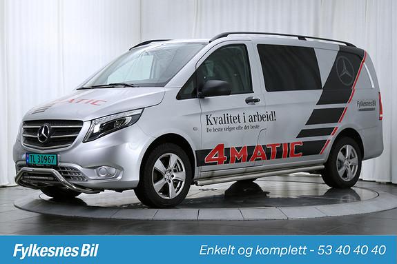 Mercedes-Benz Vito V119 4X4 A2 Lang aut Hengerfeste, DAB+  2016, 8500 km, kr 469900,-