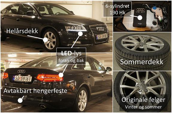 Audi A6 2.7 TDI V6 Multitronic 2010, 93600 km, kr 198000,-