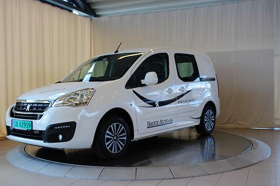 Peugeot Partner Mester 1,6 BlueHDi 100hk  L1  2016, 7900 km, kr 189000,-