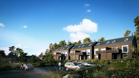9 Solgt - av 10 moderne rekkehus under oppføring - Saltnes, Råde