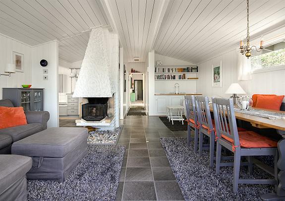 Stor velholdt hytte med båtplass -Nordre Kirkøy