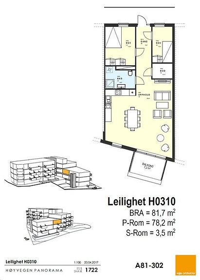 Plantegning som viser leilighet 10 - 3. ETG.