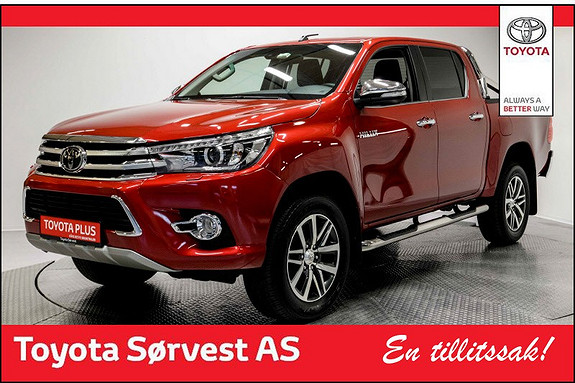 Toyota HiLux D-4D 150hk D-Cab 4WD SR+ aut Mye ekstra utstyr!  2016, 12300 km, kr 409000,-