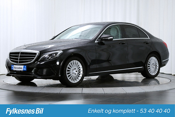 Mercedes-Benz C-Klasse C180 aut Exlusive ,Burmester, DAB+, Skinn  2015, 47000 km, kr 389900,-