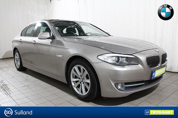 BMW 5-serie 520dA En eier-HeadUp-Dieselv-el.krok-Comf.stoler-blåtan