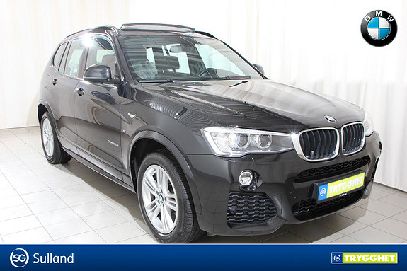 BMW X3 xDrive20d 163hk aut Navi, Hengerfeste, DAB+ Panorama