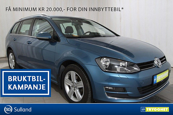 Volkswagen Golf 1,6 TDI 105hk Highline DAB+.HENGERFESTE.BLUETOOTH.MULTI