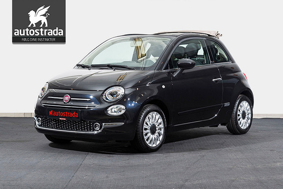 Fiat 500 Cabriolet Lounge KAMPANJE -52.000,-