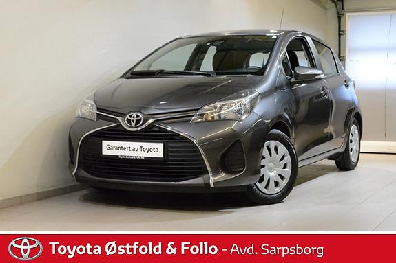 Toyota Yaris 1,0 Active S , DAB+, NAVIGASJON, SAFETY SENSE M.M.,  2015, 43000 km, kr 148000,-