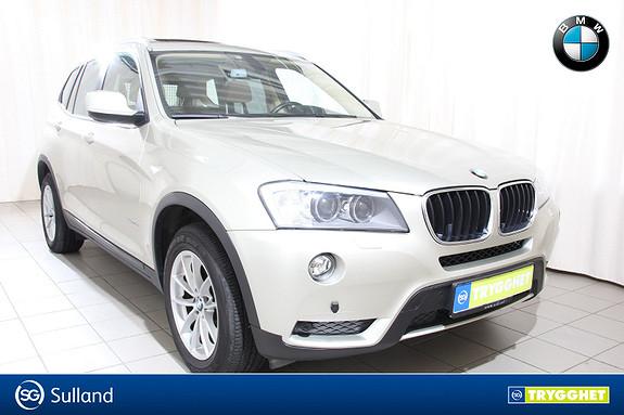BMW X3 xDrive20d Aut. hengerfeste,panorama,navi,rygekamera,dab