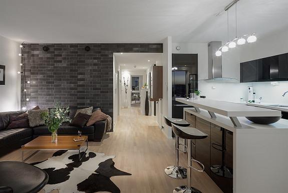 Stilfull leilighet med 3 soverom og 2 bad - vidstrakt utsikt mot vest - Bryggerifjellet, sentrum
