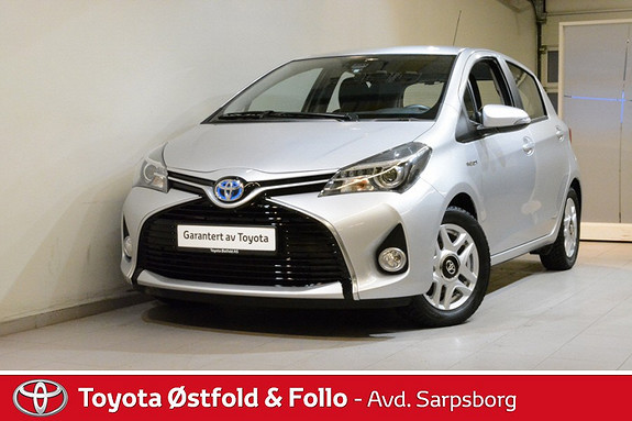 Toyota Yaris 1,5 Hybrid Active S e-CVT , SAFETY SENSE/CRUISEC./DAB+,  2015, 22400 km, kr 182000,-