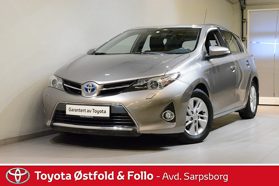 Toyota Auris 1,8 Hybrid E-CVT Active  2013, 80800 km, kr 168000,-
