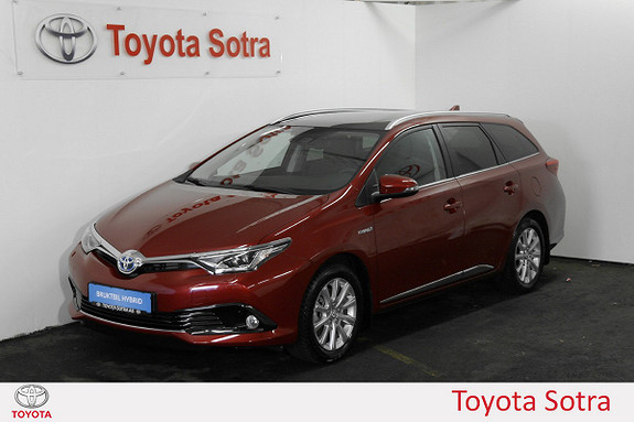 Toyota Auris Touring Sports 1,8 Hybrid Style Edition LAV KM - DAB+  2017, 1 412 km, kr 319 000,-