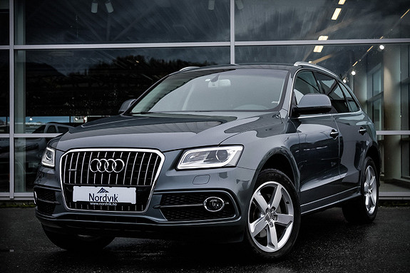 Audi Q5 2,0 TDI 163hk quattro S tronic S-line, webasto  2014, 91730 km, kr 389000,-