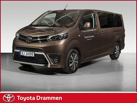 Toyota Proace Verso Lang 2,0D 177 Executive Family aut 8 seter  2018, 16000 km, kr 649000,-