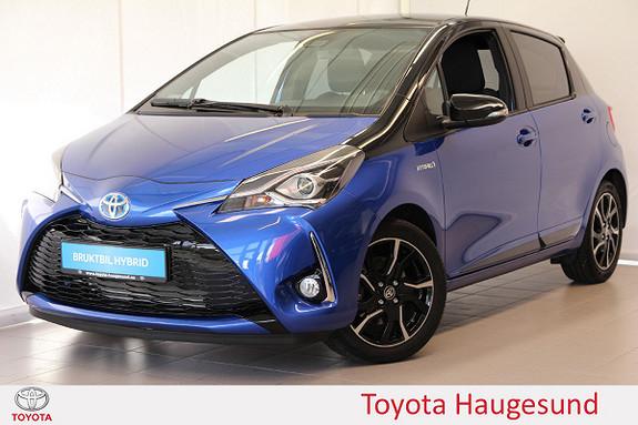 Toyota Yaris 1,5 Hybrid Bi Tone Blue e-CVT aut Navi, cruise, Tectyl  2018, 1860 km, kr 249000,-